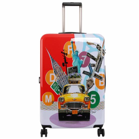 Triforce Francisco Ceron Pop Art New York 30 in. Hardside Spinner Luggage