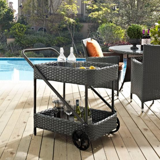 Modway Sojourn Patio Beverage Cart