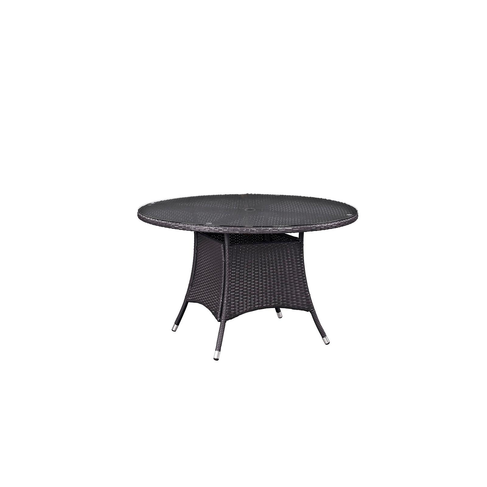Outdoor Modway Convene Wicker Patio Round Dining Table - ...