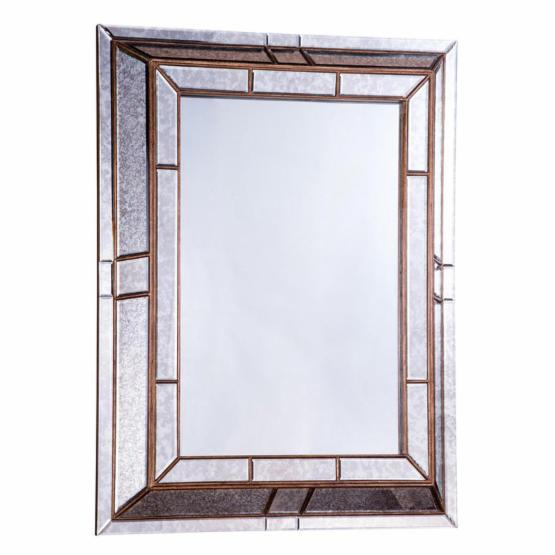 Elegant Furniture & Lighting Antique Wall Mirror - 36.6W x 48H in.