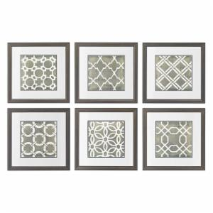 Sterling Symmetry Blueprint Wall Panel - Set of 6