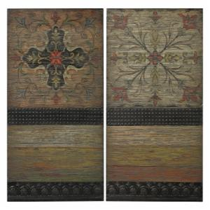 Sterling Brichell Spanish Tiles on Wall Panel - Set of 2