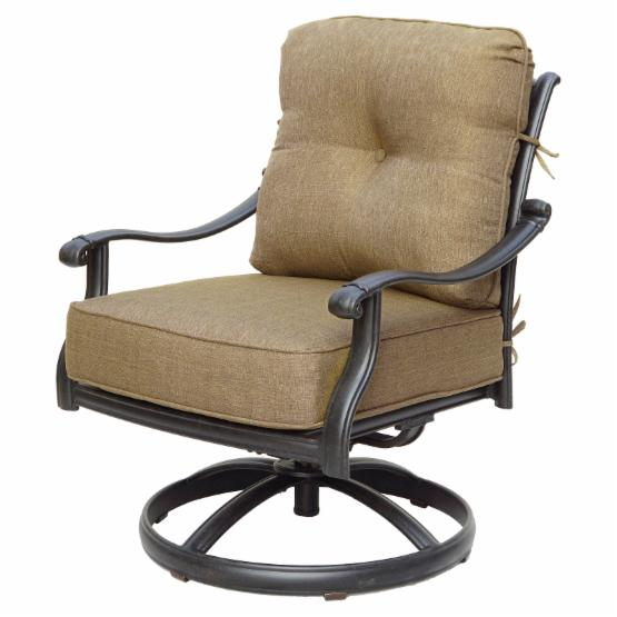 Darlee San Marcos Swivel Rocker Patio Club Chair - Set of 2