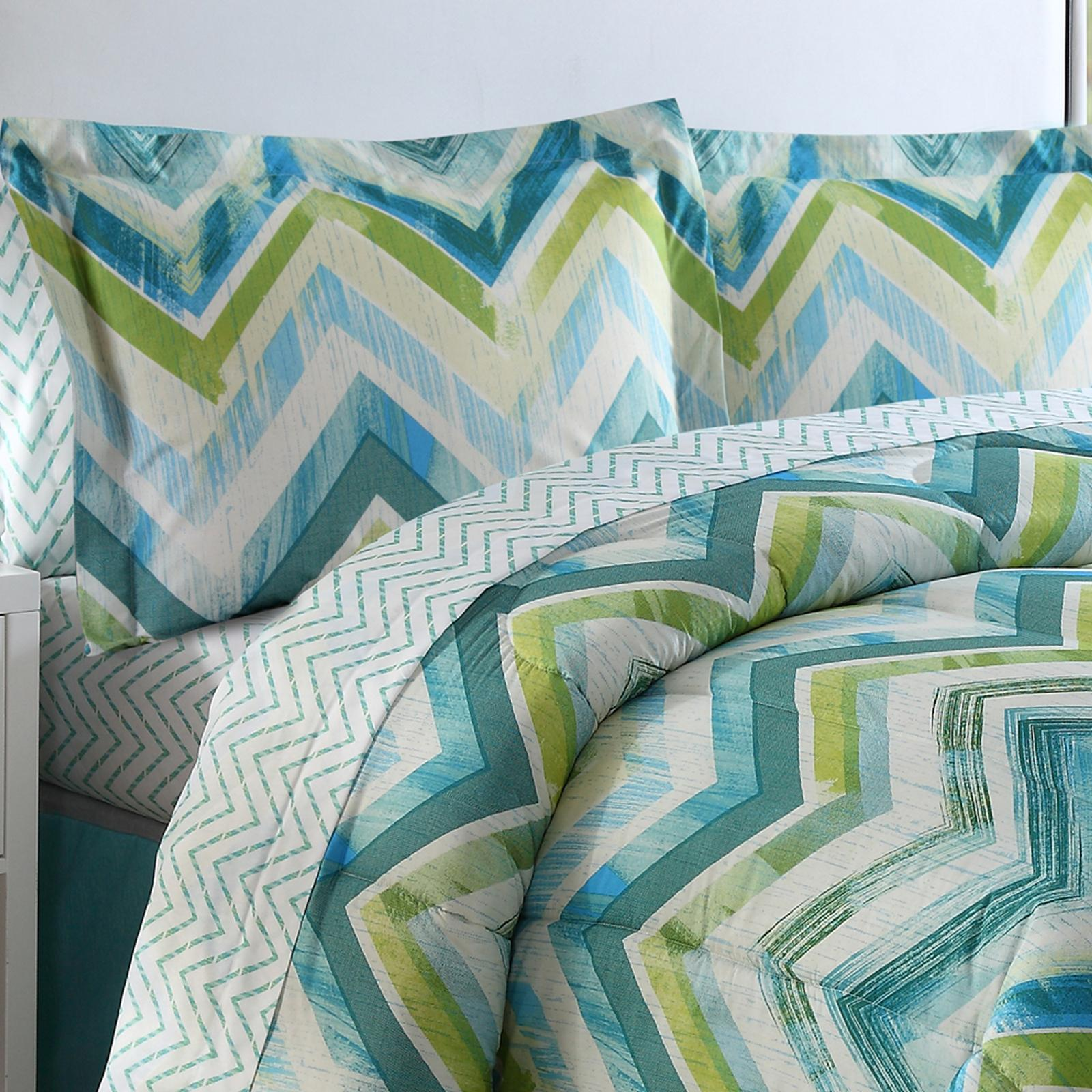 Conner Reversible Chevron Bed in a Bag by Ellison Great V...