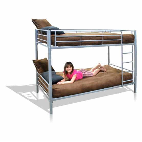 Locker Twin over Twin Bunk Bed