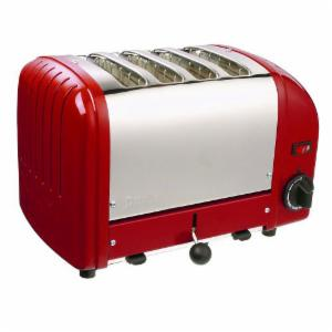 Dualit 40417 Vario 4 Slice Classic Toaster-Red