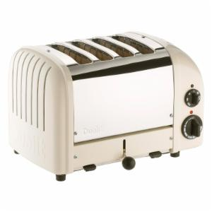 Dualit 47165 New Generation 4 Slice Classic Toaster - Canvas White