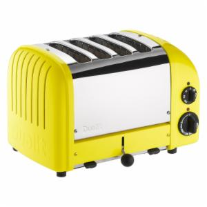 Dualit 47168 New Generation 4 Slice Classic Toaster - Citrus Yellow