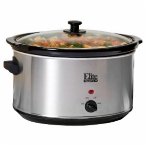 Elite Platinum MST-90V 8.5 qt. Stainless Steel Slow Cooker