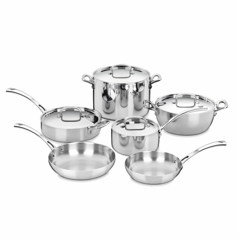 Cuisinart FCT-10 French Classic Tri-Ply Stainless 10 Piec...