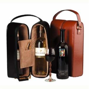 Double Wine Carrier and Presentation Case with Optional Monogramming