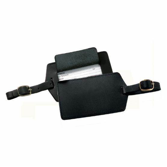 Royce Leather Popular Leather Luggage Tag - Black