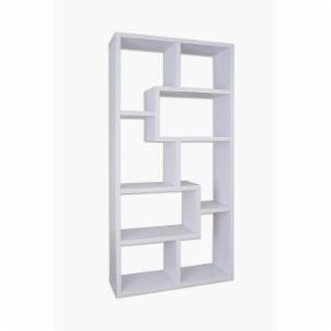 Furniture of America Verena Contoured Leveled Display Cabinet/ Bookcase - White
