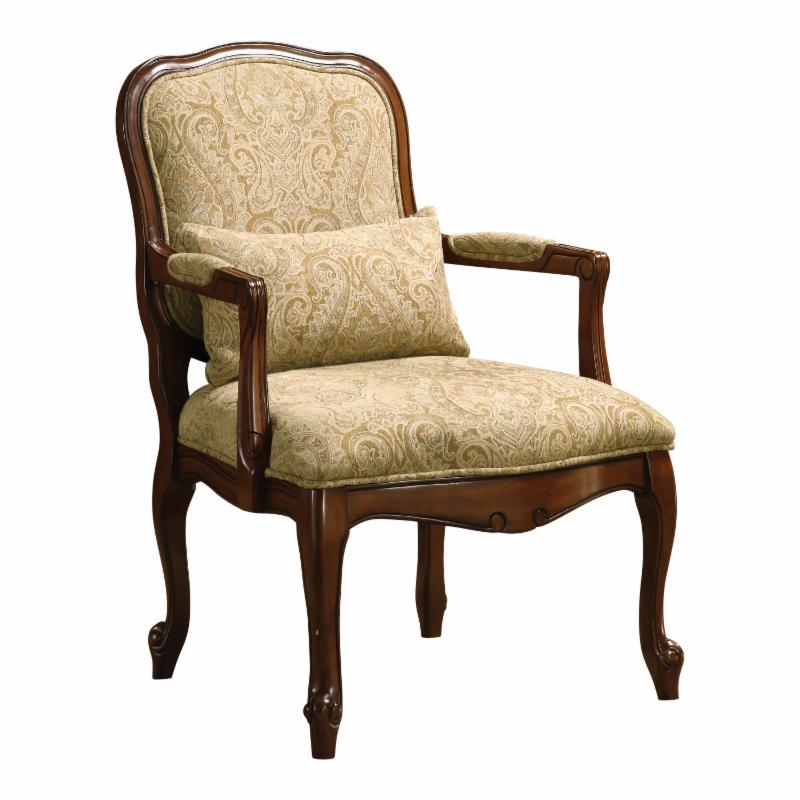 Furniture of America Tanters Accent Chair with Pillow - I...