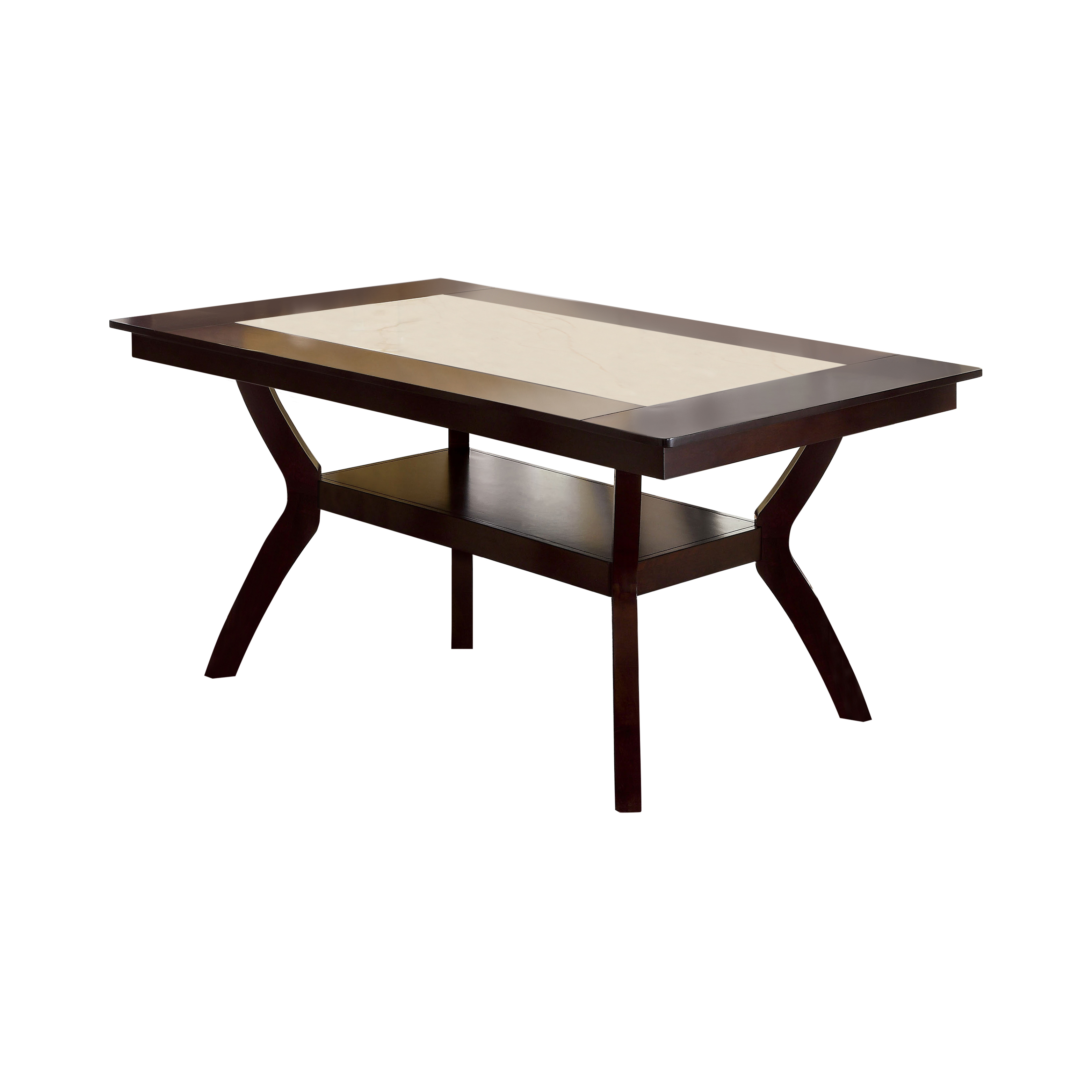 Furniture Of America Mullican Counter Height Display Top Dining Table    Dark Cherry U0026 Ivory | Hayneedle