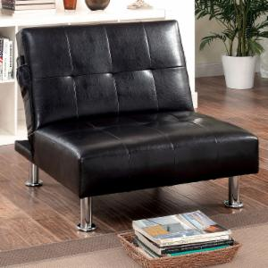 Furniture of America Dunbar Convertible Chair with Button Tufting