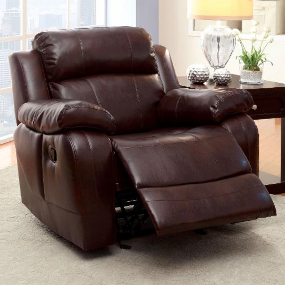 Furniture of America Hartwig Leather Recliner