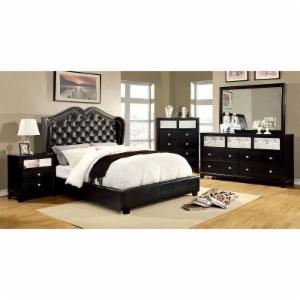 Furniture of America Bennion Upholstered Low Profile Bed Set