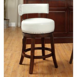 Furniture of America Adrina Contemporary Style Leatherette 24 in. Swivel Bar Stool