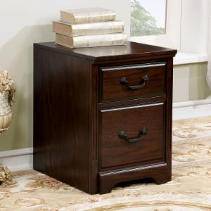 Furniture of America Montecillo Traditional Style Caster Wheel Cabinet