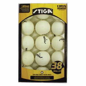 Stiga 38 Pack One-Star Table Tennis Balls