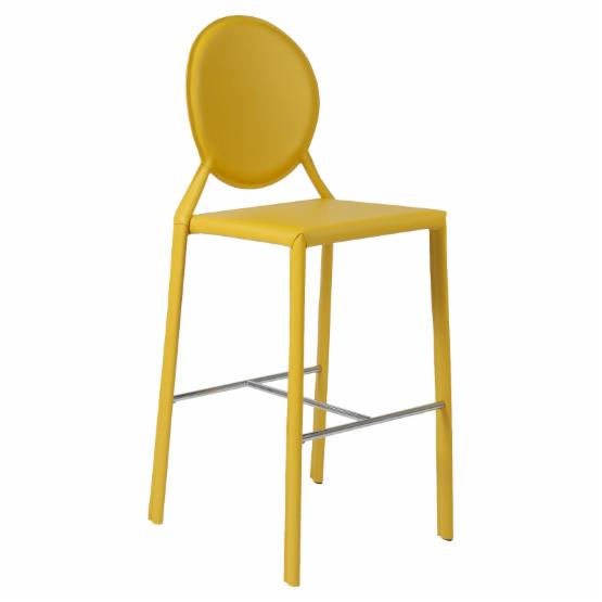 Euro Style Isabella-B Leather Bar Stool - NSS