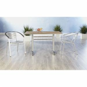 Euro Style Sherwood 7 Piece Dining Set with Sadie Stackable Chairs