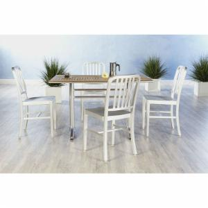 Euro Style Sherwood 5 Piece Dining Set with Café Aluminum Chairs