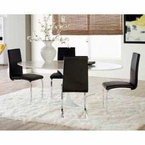 Euro Style 5 Piece Astrid Dining Table Set with Santos Chairs