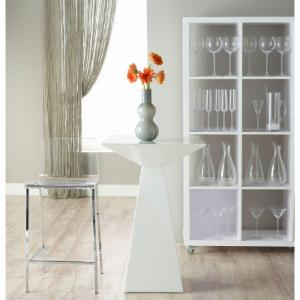 Euro Style 3 Piece Tad Pub Table Set with Chloe Bar Stools
