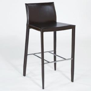 Euro Style Shen 26 in. Leather Counter Stool - Set of 2