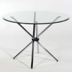 Euro Style Hydra Clear Glass Top Dining Table