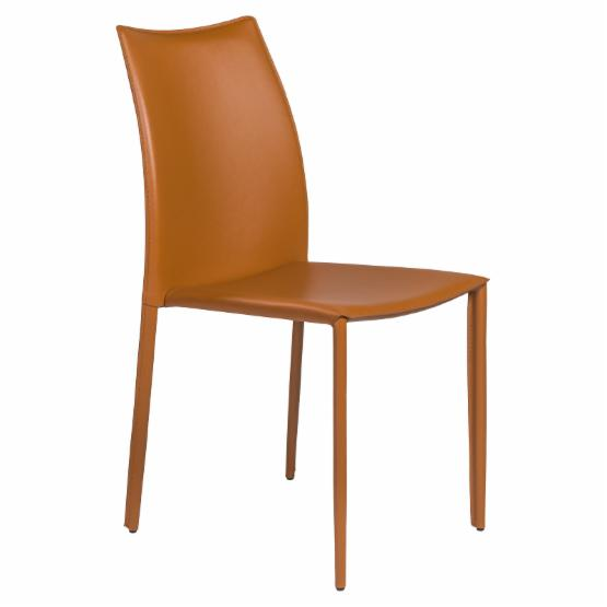 Euro Style Dalia Leather Stacking Dining Chair - Set of 4