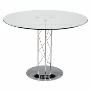 Euro Style Trave Round Glass Dining Table