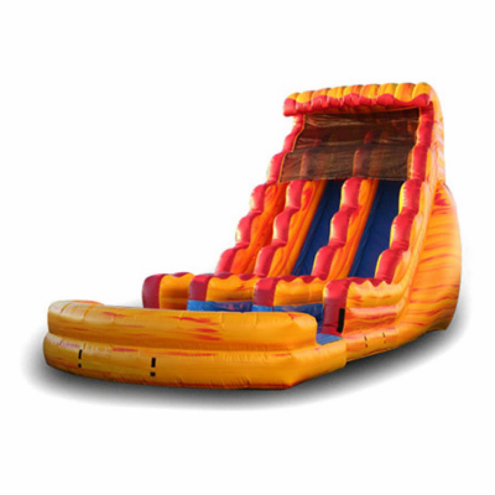 EZ Inflatables 22 ft. Fire and Ice Inflatable Slide - WS205
