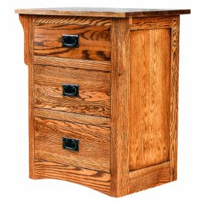 Forest Designs Arts and Crafts 3 Drawer Nightstand