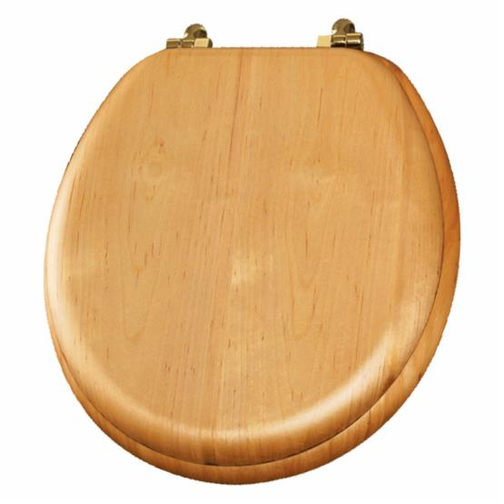 Bemis B9601BR378 Round Natural Reflections Closed Front Toilet Seat in Natural Oak