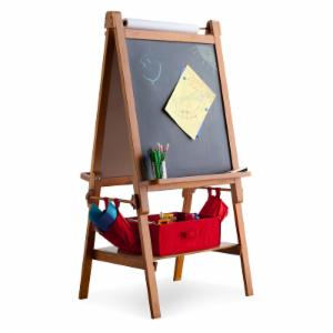 Classic Playtime Deluxe Easel - Pecan - With Paper Roll