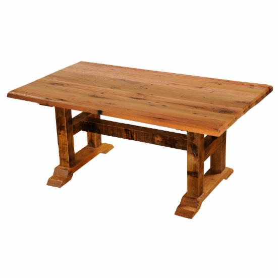Fireside Lodge Barnwood Timbers 84 in. Rectangular Dining Table