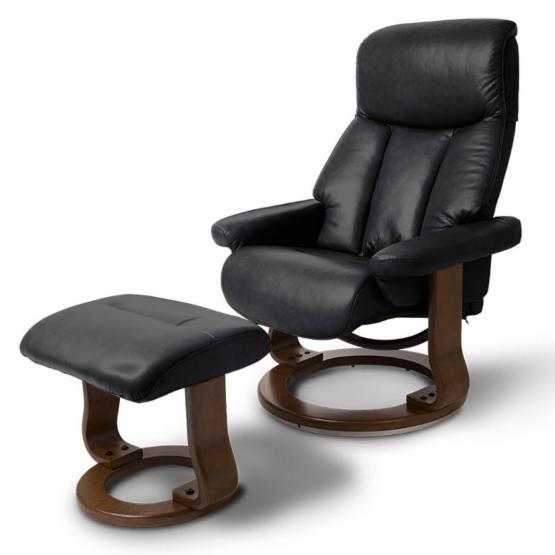 World Source Design Bella Leather Recliner and Ottoman