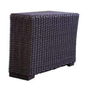 Lloyd Flanders Mesa Wedge Table with Woven Top
