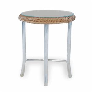 Lloyd Flanders Mod All-Weather Wicker 20 in. End Table