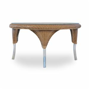 Lloyd Flanders All-Weather Wicker 34 in. Round Cocktail Table