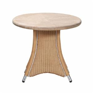 Lloyd Flanders Generations 24 in. Round End Table with Stone Top