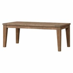 Lloyd Flanders Teak Rectangular Tapered Leg Patio Cocktail Table
