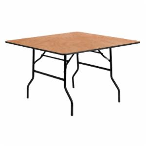Flash Furniture YT-WFFT48 48 in. Square Wood Folding Banquet Table