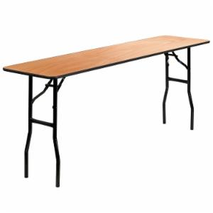 Flash Furniture YT-WTFT18X72 18 x 72 in. Rectangular Finished Top Wood Folding Training/Seminar Table