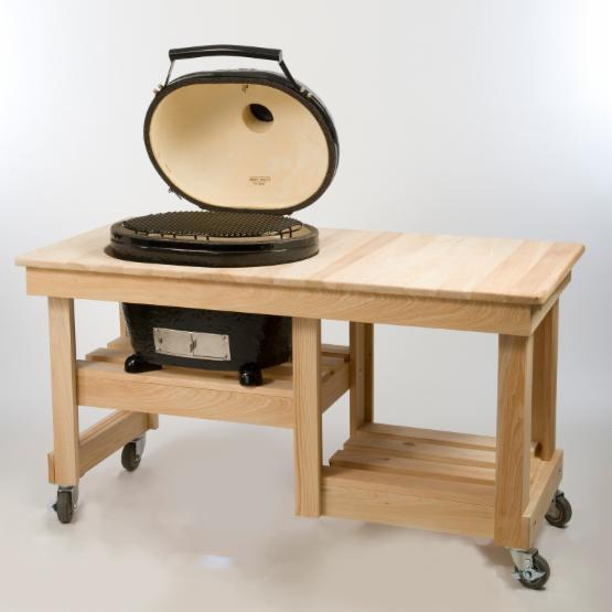Primo Oval Large Kamado Grill with Counter Top Table Cart