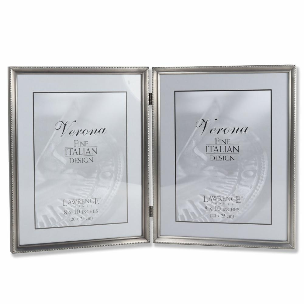 Lawrence Frames Antique Pewter Double Hinged 8 x 10 Picture Frame | eBay