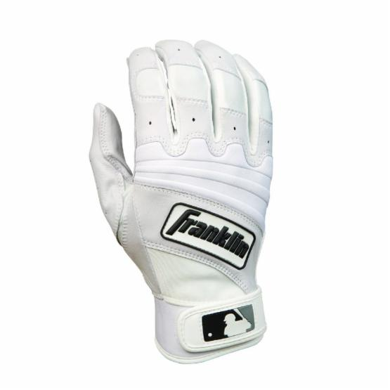 Franklin The Natural II Series Youth Batting Gloves - Pearl/White